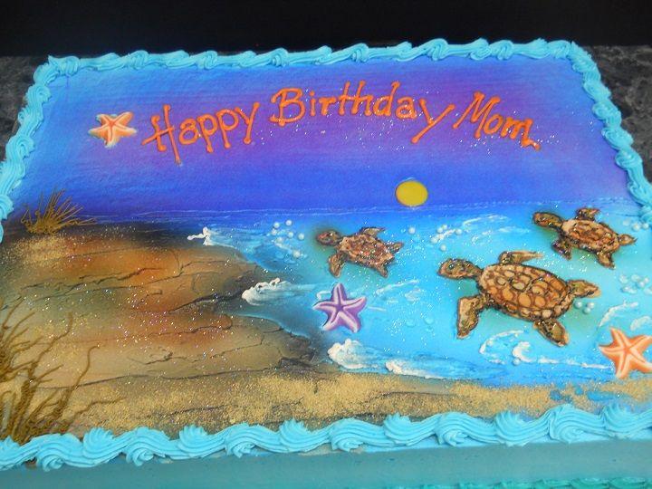 Fabulous Birthday Cakes The Bake Shoppe Turtle Birthday Cake Sea Turtle Personalised Birthday Cards Veneteletsinfo