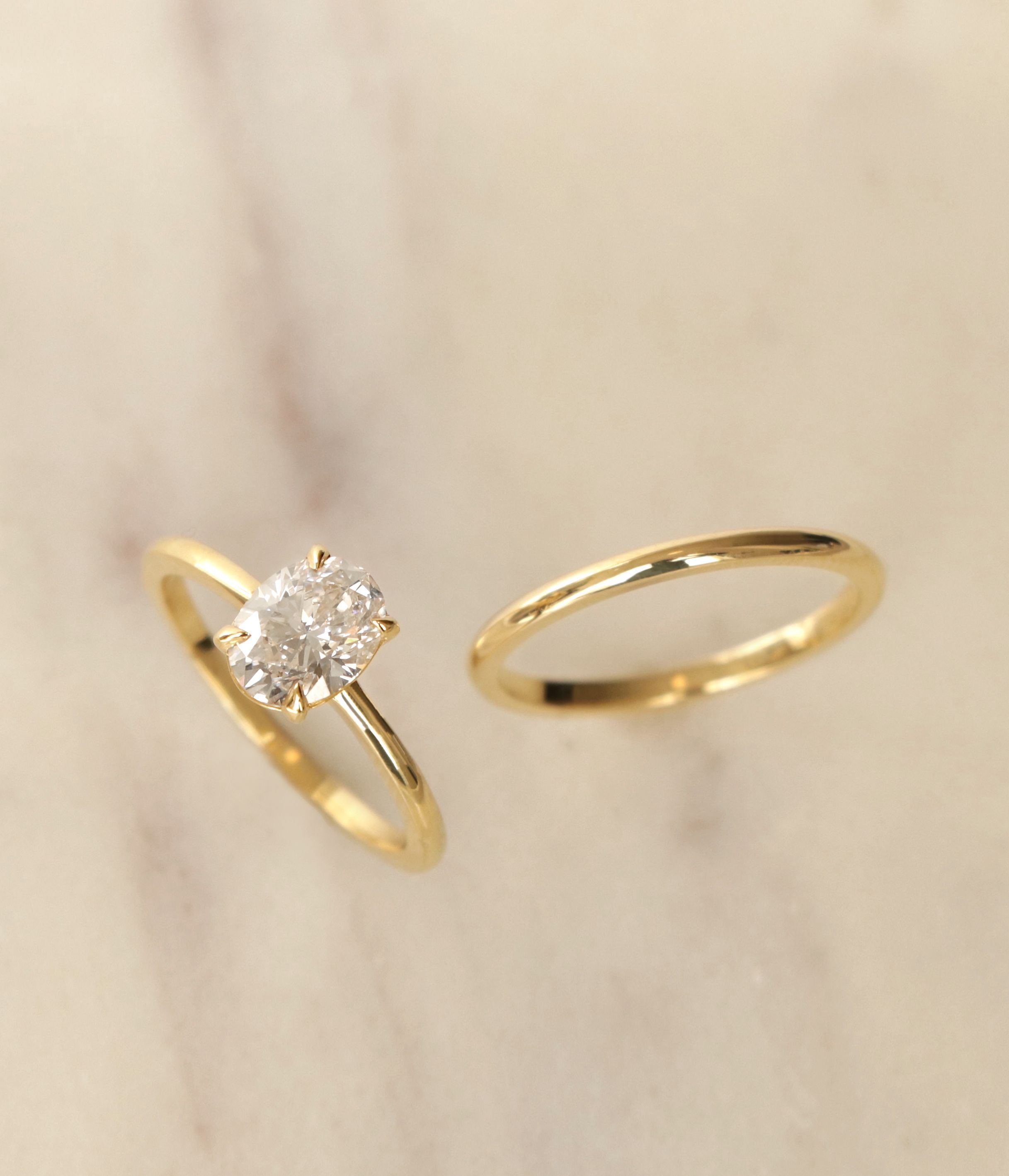 wedding oro ring with prong pav oval engagement simple band vrai setting modern and pin vow rings