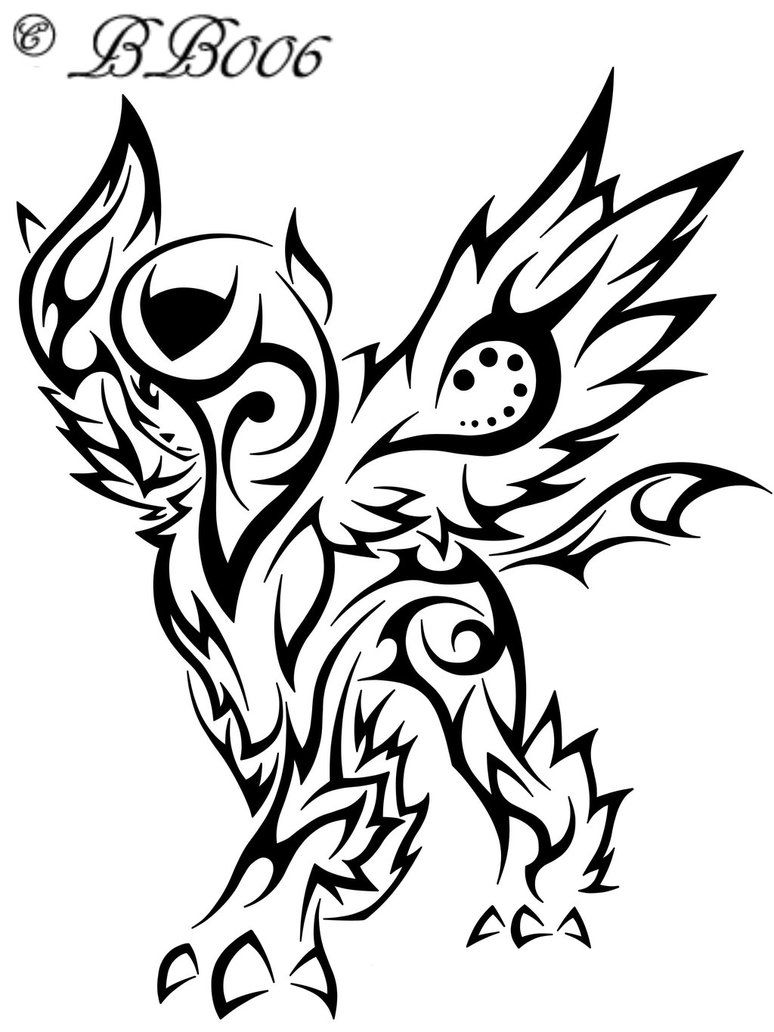 Tribal Mega Absol By Blackbutterfly006 Deviantart Com On Deviantart Tribal Pokemon Pokemon Tattoo Tribal Drawings