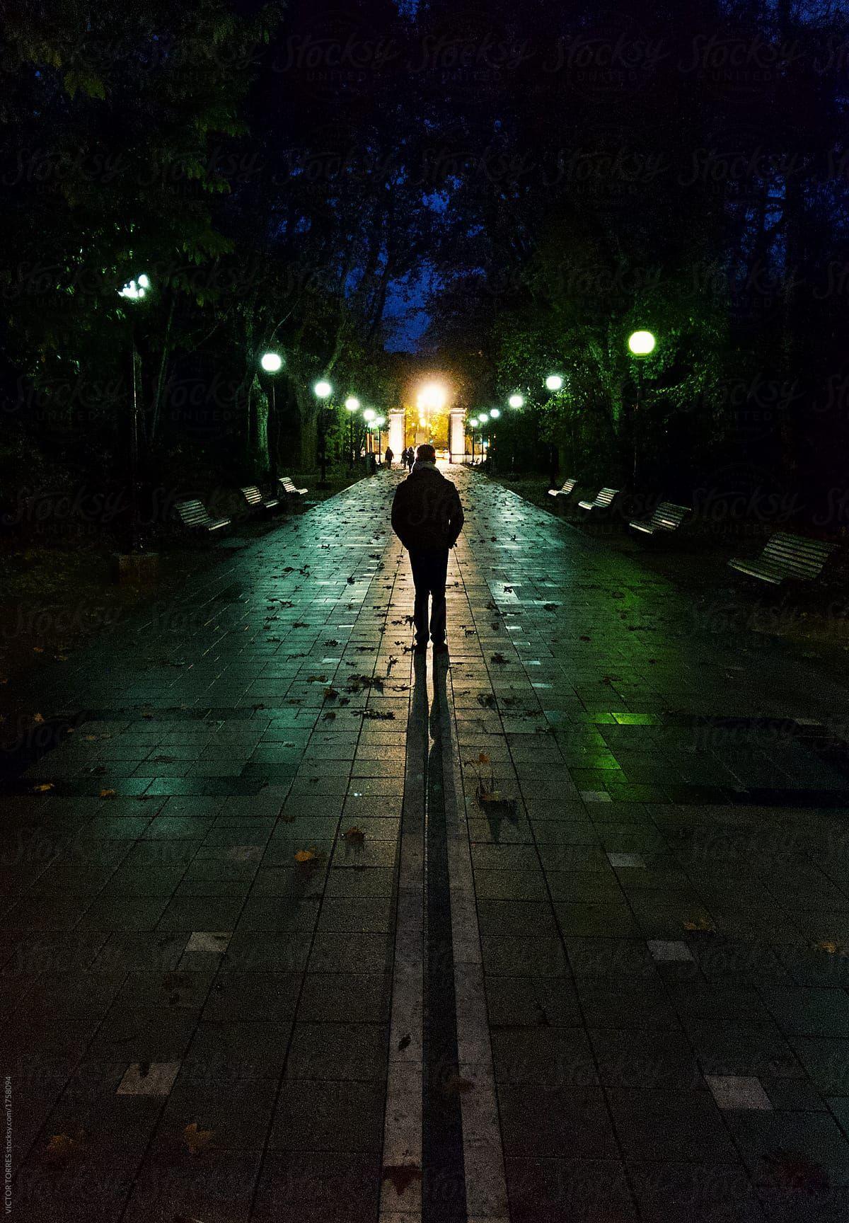 Walking Alone At Night - Google -1262