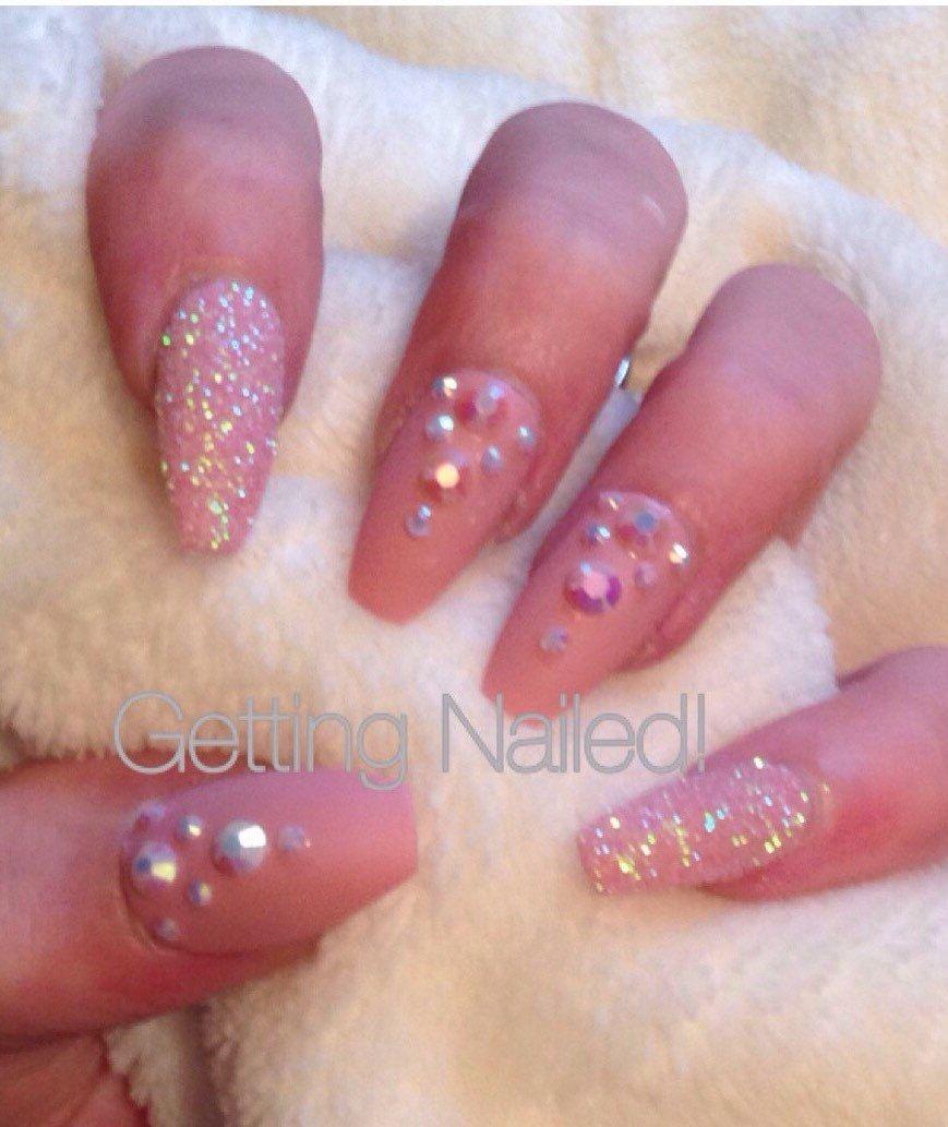 False nail set, press on nails, stiletto nails, full cover nails ...