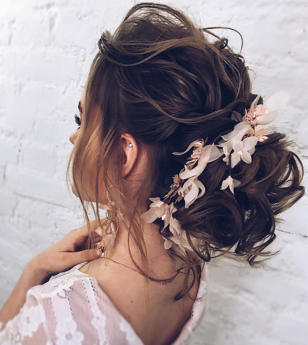 the most romantic messy updos wedding hairstyles