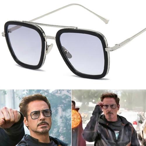 Tony Stark Sunglasses Men Square Metal Avengers Iron Man Sun Glasses Eyewear Hot Tony Stark Sunglasses Mens Sunglasses Sunglasses