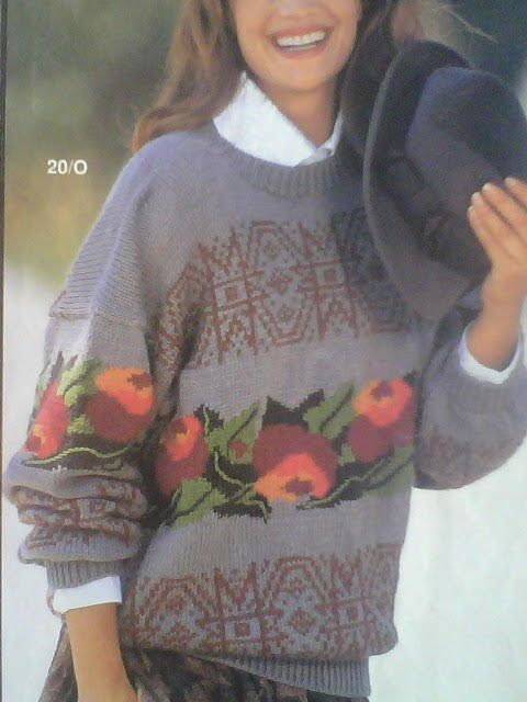 Vintage knited women's sweater - PATERN model 1992