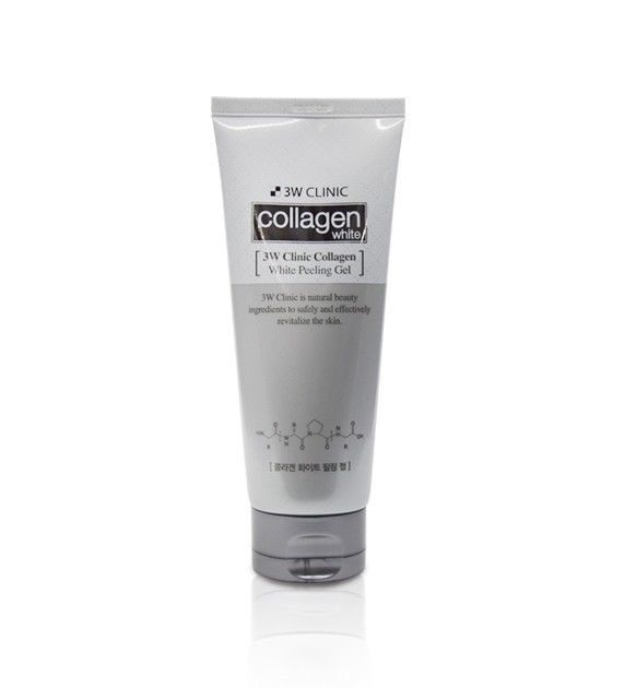 3w Clinic Collagen White Peeling Gel 180ml Soothing Tightening Korea Cosmetics Collagen Gel Clinic