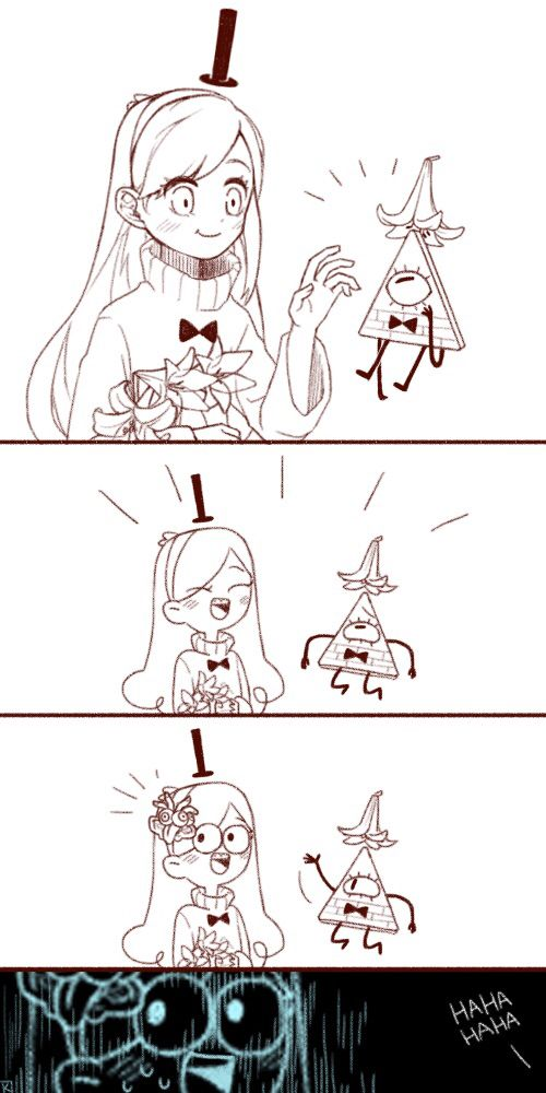 Comic by Kang0-0a (Tumblr)!!- gravity falls Mabel and Bill comic. Funny