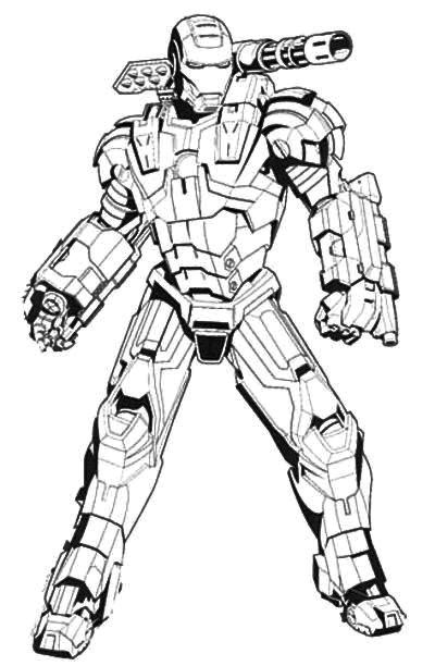 Iron Man Machine Coloring Page | Coloring Galore! | Pinterest ...