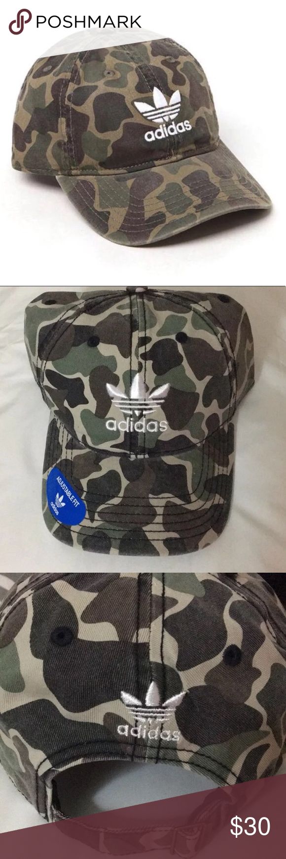 4ec2fe55573 NWT Adidas Firebird Trefoil Camo Dad Cap Hat Brand new with tags! One size  fits