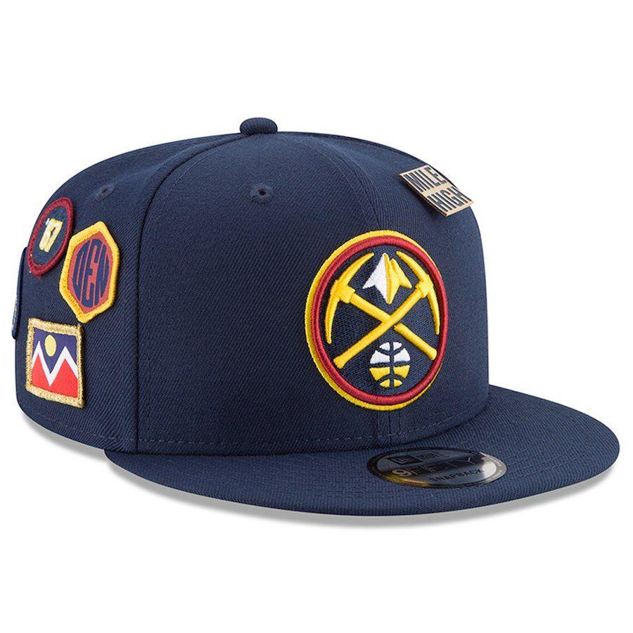 online retailer 1a218 d4154 Youth Denver Nuggets New Era Navy 2018 NBA Draft OTC 9FIFTY Adjustable Hat
