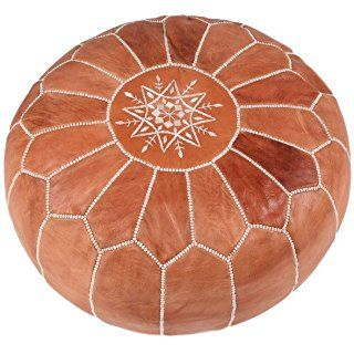 Moroccan World Orientalisches Echtes Ledersitzkissen Pouffe