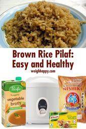 Brown Rice Pilaf #RiceCookermeals Brown Rice ist gesund und lecker und wenn ... - #brown #gesund #lecker #pilaf #ricecookermeals - #Alexandra'sReisPilaw #easyricepilaf