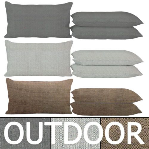 details zu outdoor sitzkissen 40x60cm grau anthrazit taupe braun wetterfest kissen lounge. Black Bedroom Furniture Sets. Home Design Ideas