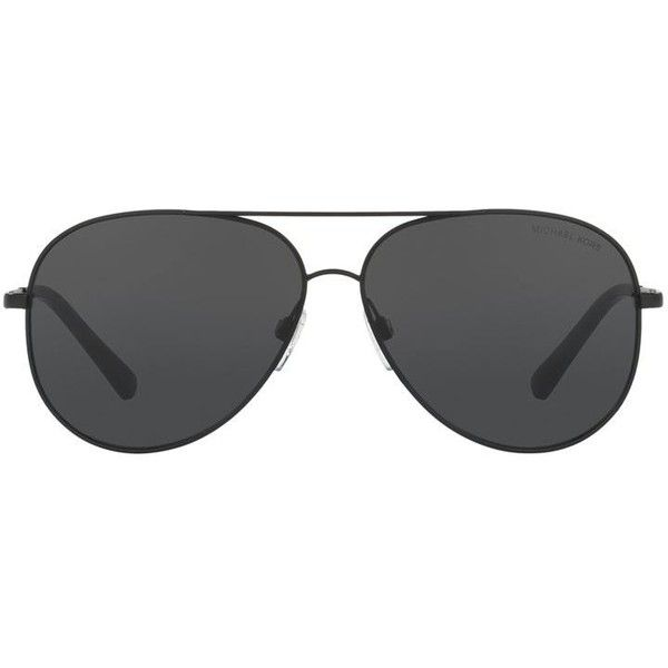 f983ef7916bd Michael Kors Hvar Aviator Sunglasses ($200) ❤ liked on Polyvore featuring  accessories, eyewear, sunglasses, mens aviator sunglasses and michael kors  mens ...