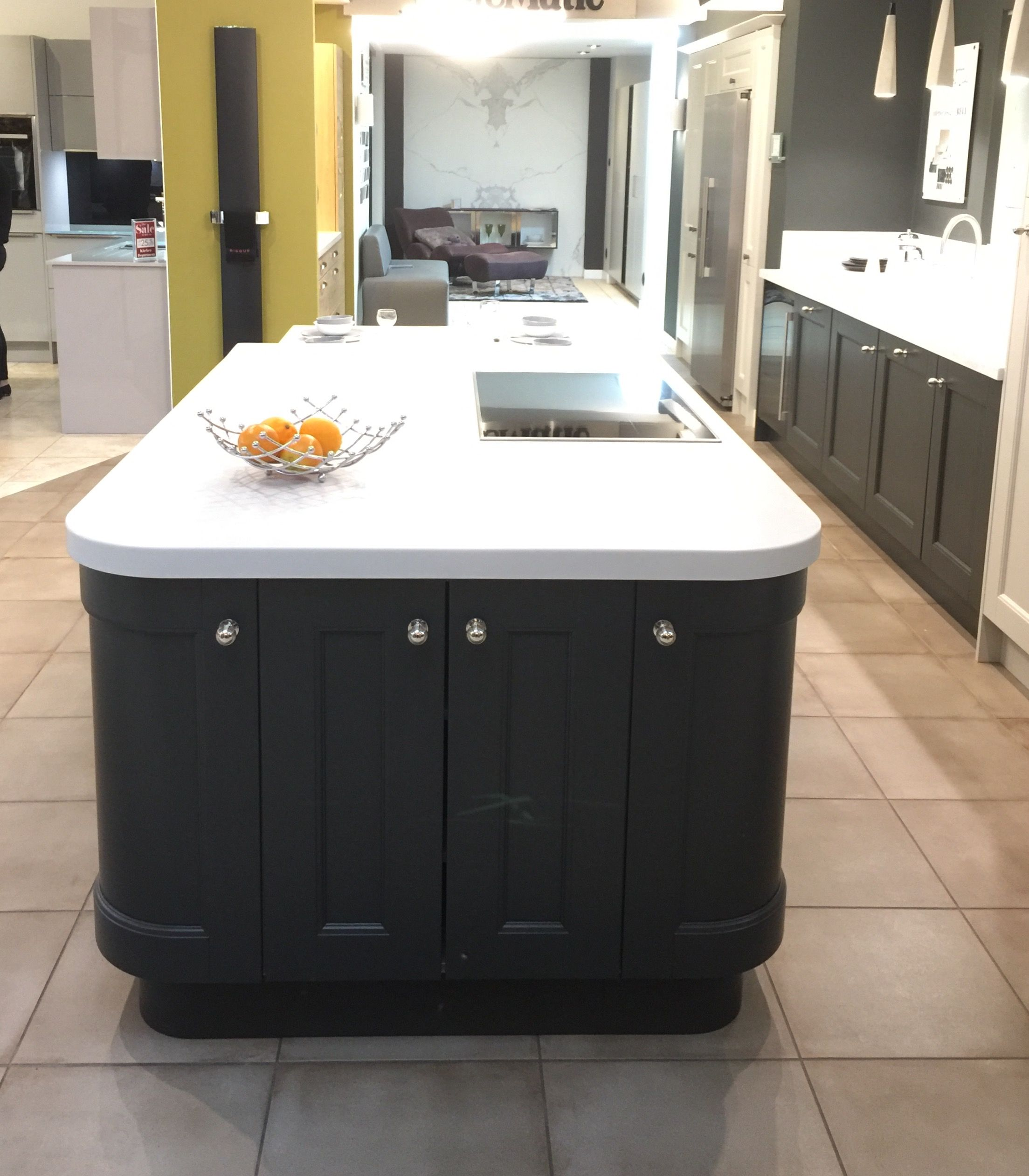 Mackintosh Display In Bells Of Northampton. Shows A Traditional Fitted  Kitchen With A Contemporary Twist