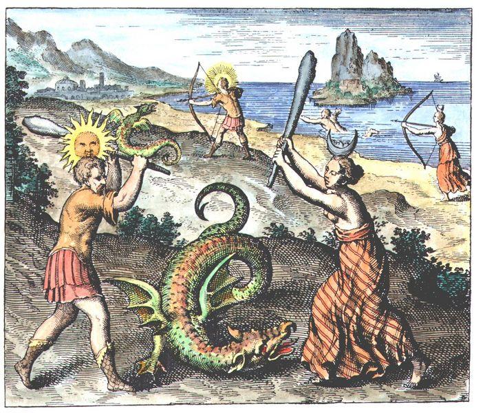 Atalanta fugiens Emblems coloured
