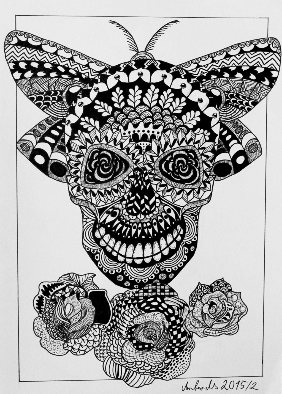 Skull Zentangle