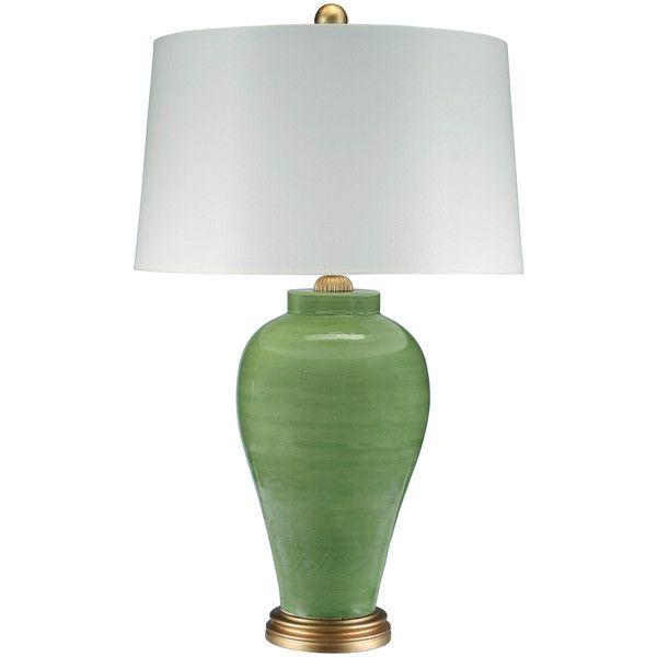 Barclay Butera Bossa Nova Table Lamp 645 Liked On Polyvore Featuring Home Lighting Table Lamps Circular Shades Gr Table Lamp Lamp Green Lamp