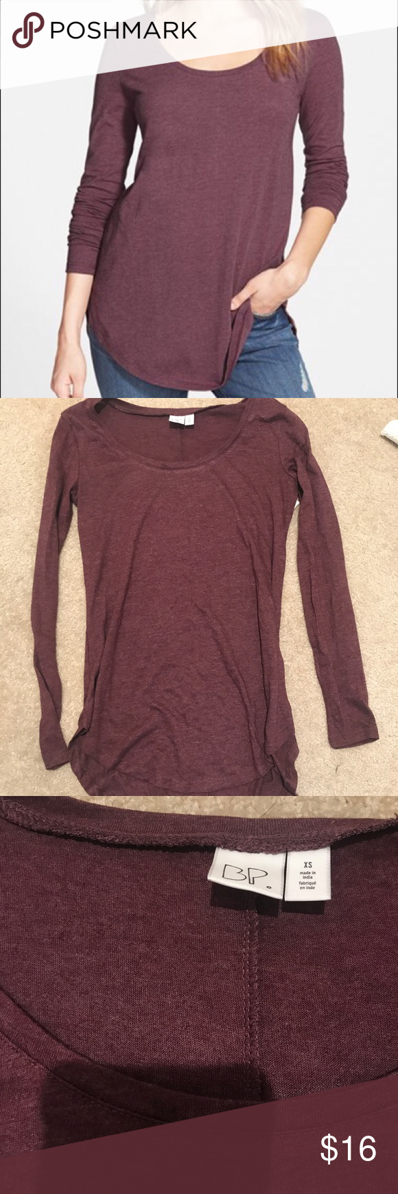 Burgundy Top Size XS, new with tag bp Tops Tees - Long Sleeve