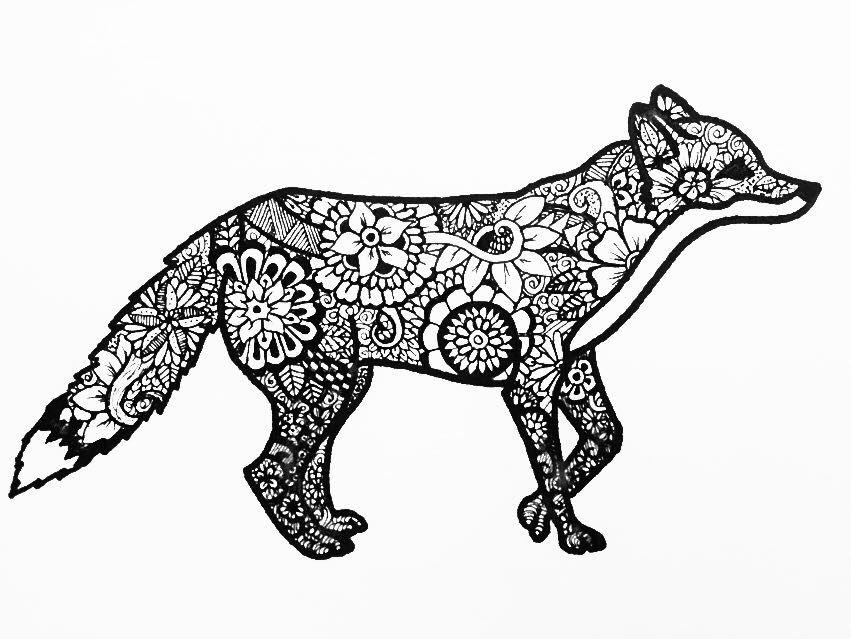 Mandalas Para Colorear Con Animales Y Zentangles: Easy Zentangle Animals - Google Search