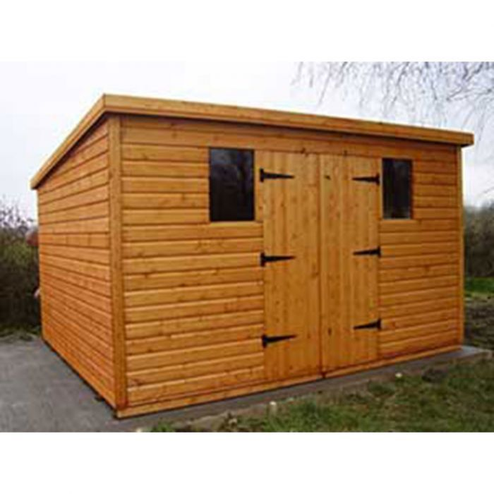8 x 7 Garden Shed Pent Roof Flat roof shed, Shed plans