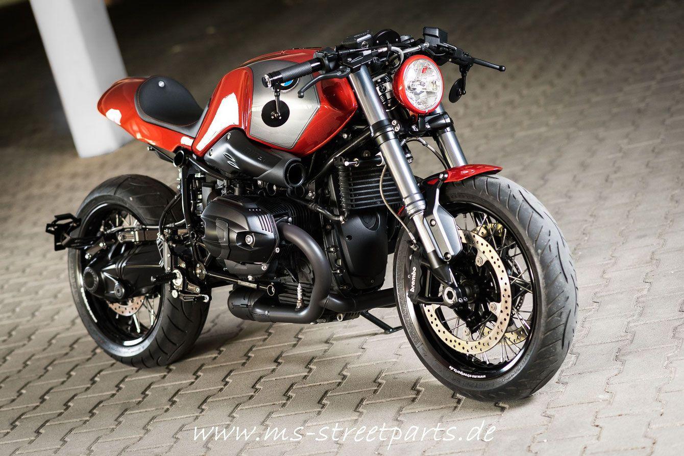 bmw r ninet red-orange umbau custom cafe racer | bikes | pinterest