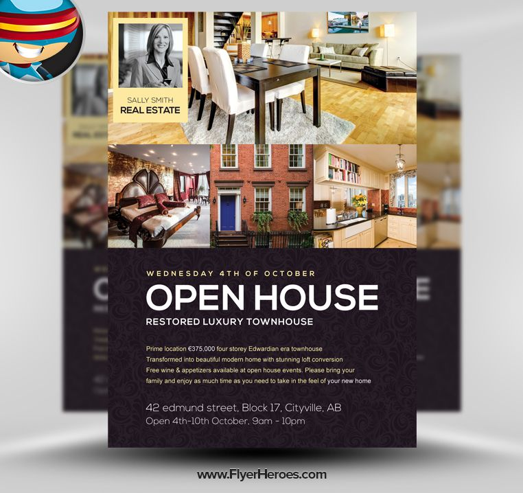 Free Real Estate Postcards and Templates Breakthrough Broker - open house flyer template