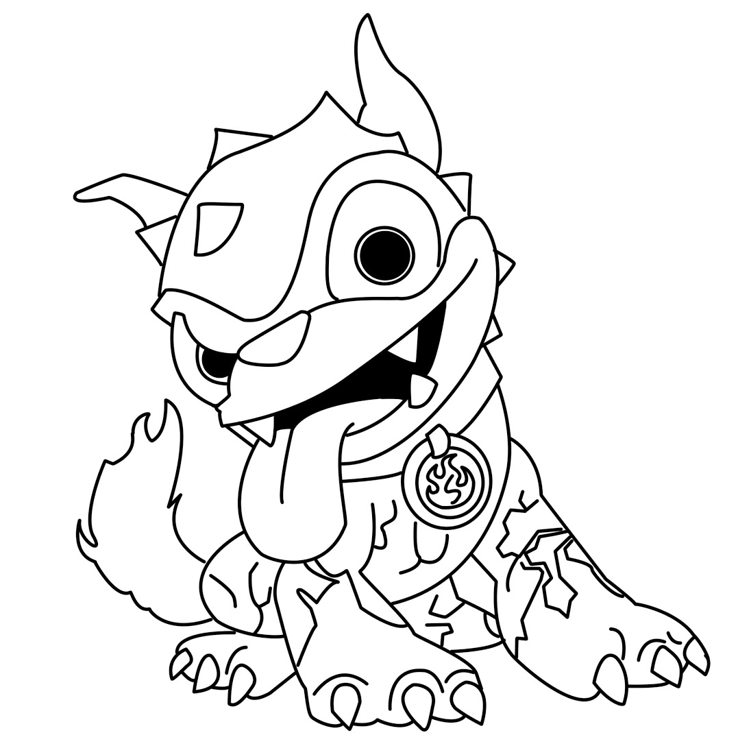 skylanders thumpback coloring pages skylanders giants hot dog 3f37b4b632eab28980b67f8207bcec25