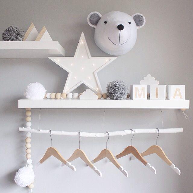 Peachy Baby blocks & bead hanger   bebe room   Pinterest