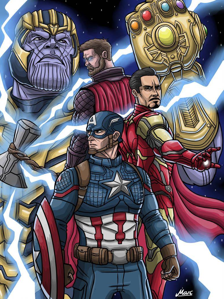 Avengers Endgame By Https Www Deviantart Com Iammarc159 On Deviantart Avengers Cartoon Marvel Animation Marvel Art