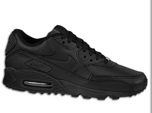 innovative design 22899 04549 The all black leather  Nike Air Max 90 LE is the perfect work kicks with  the ol  school flare. These are strong. With black wool trousers, perfect  shoe for ...