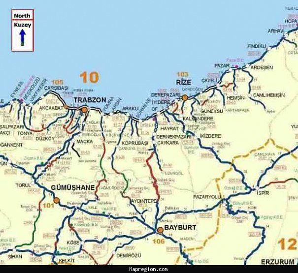 Gumushane Map httpmapregioncomgumushanemaphtml My News