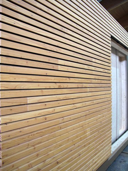 Panel de madera para fachada OPENLAM® by Simonin | Materiales ...