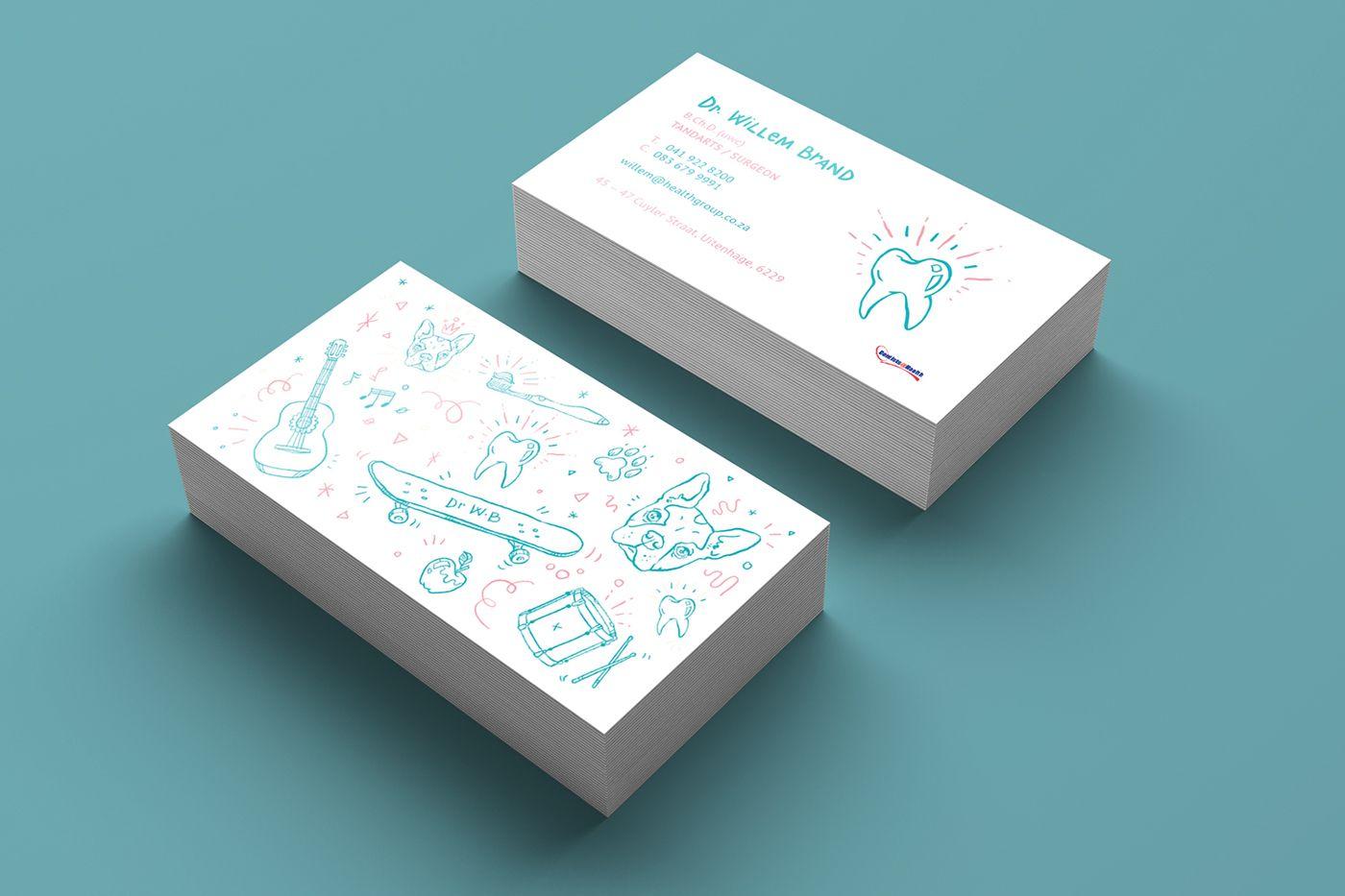Kiddies\' Dentist Business Card on Behance | white clouds | Pinterest ...