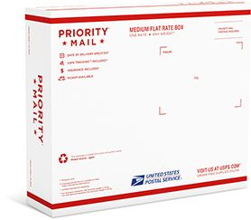 Priority Mail Medium Flat Rate Box 2 Flat Rate Journal Cards Priorities