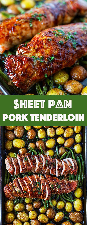Pork Tenderloin Recipe Easy Sheet Pan Dinner images