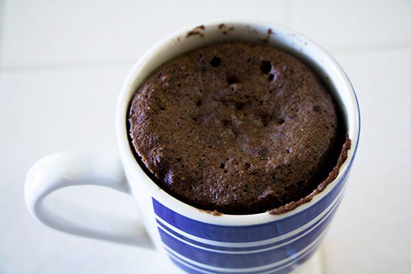 mug cake coconut flour chocolate