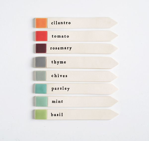 keep your seedlings organized with these color-coded markers from Paulova | via anthology magazine.