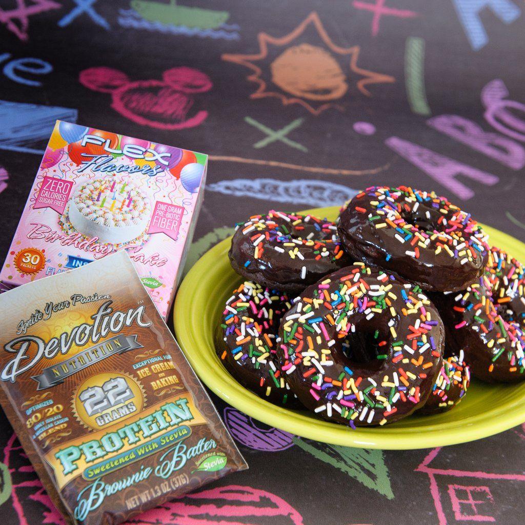 1 scoop Brownie Batter protein powder 3 Flex Flavors (Birthday Cake, Creme  Brulee,