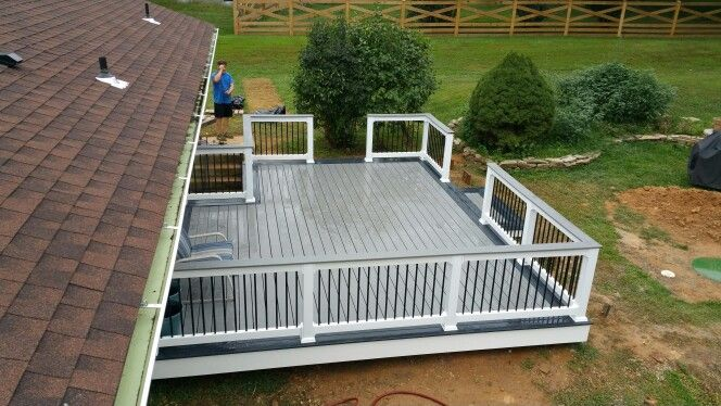 Trex Selects Deck Winchester Grey Double Picture Frame With Pebble Main Decking