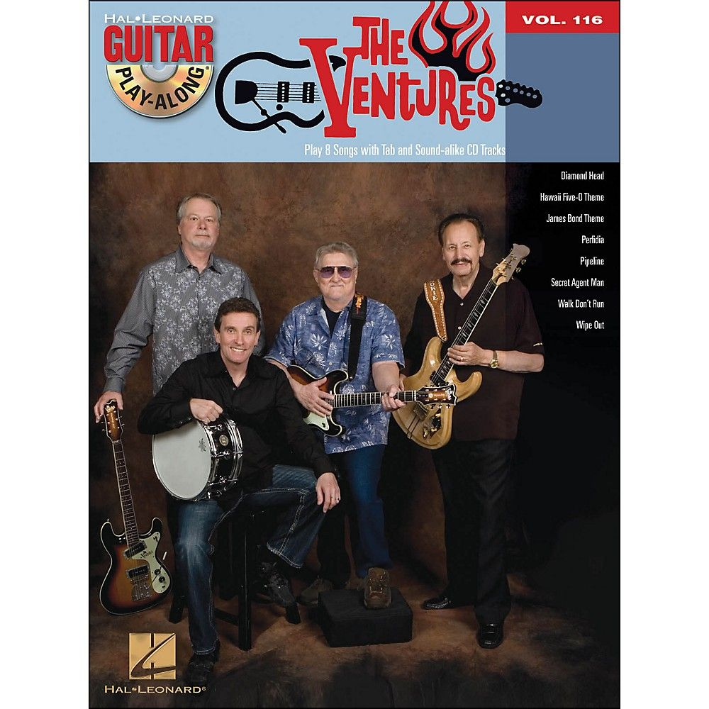 Hal Leonard The Ventures Guitar Play Along Volume 116 Bookcd