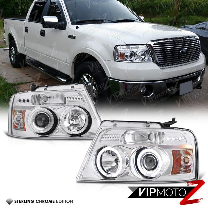 04 08 Ford F150 Pickup Ccfl Angel Eyes Halo Projector Euro Pair