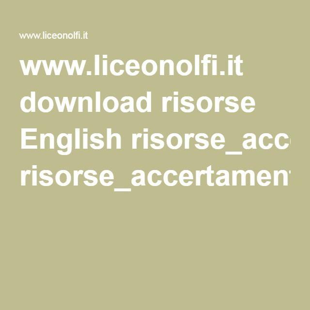 Www Liceonolfi It Download Risorse English
