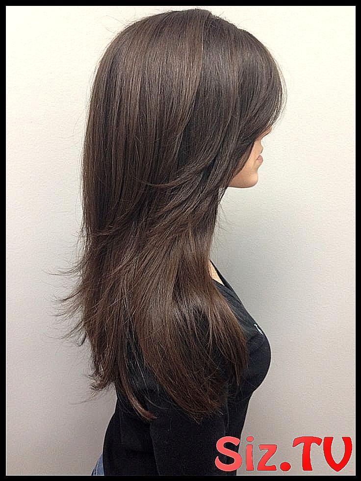 Lange geschichtete V Haarschnitt Bilder ber neue # ...
