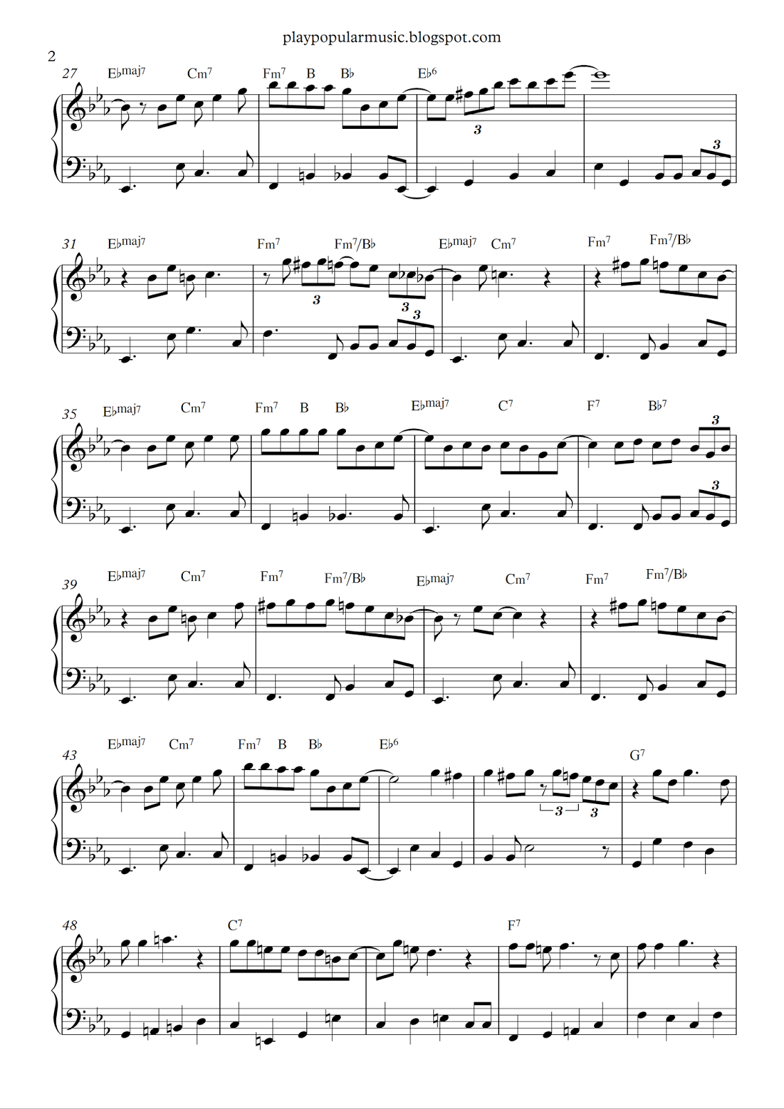Free piano sheet music santa baby eartha kittpdf ill wait up babies hexwebz Image collections