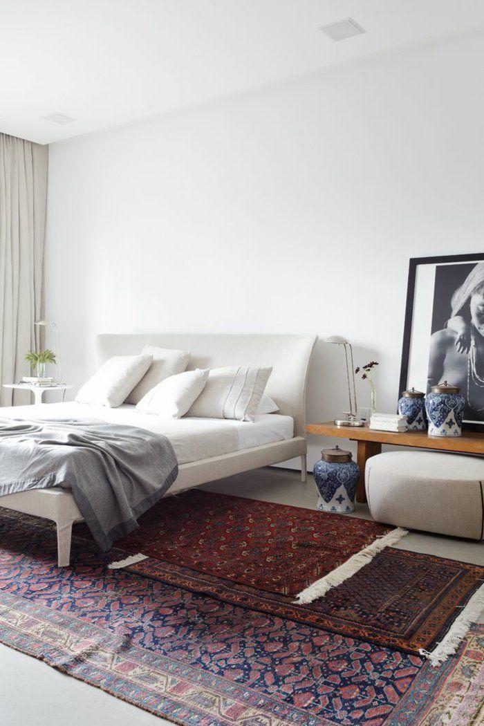 orientalische teppiche persische teppiche perserteppich - wandgestaltung schlafzimmer effektvolle ideen