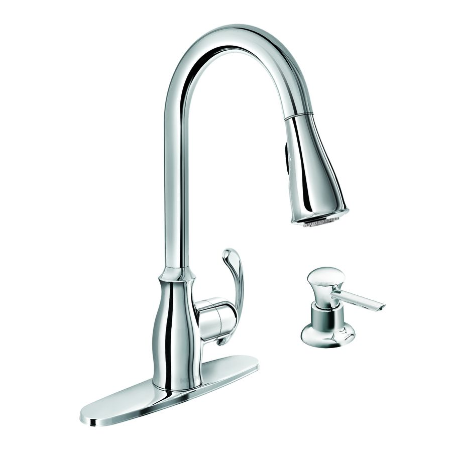 170... Can use without plate Moen Kipton Chrome 1-Handle Pull-Down ...