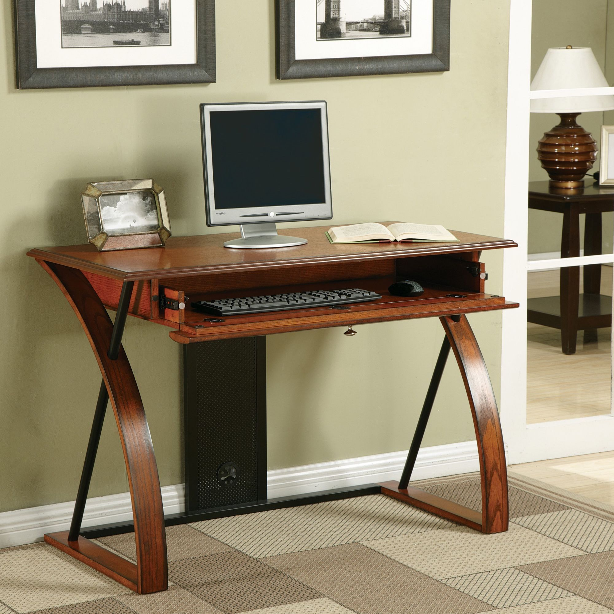 Overstock Com Online Shopping Bedding Furniture Electronics Jewelry Clothing More In 2021 Contemporary Computer Desk Desk With Keyboard Tray Oak Wood Desk