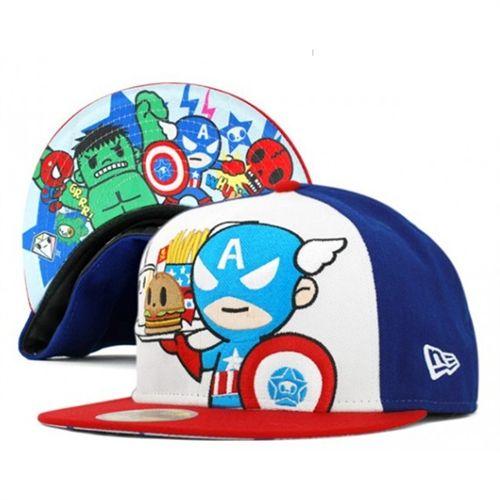 new concept 3263e b24cf Tokidoki Captain America Snapback Marvel Comics Hat