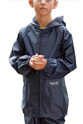 New Kids Boys Girls Regatta Stormbreak Waterproof Rain Jacket Coat