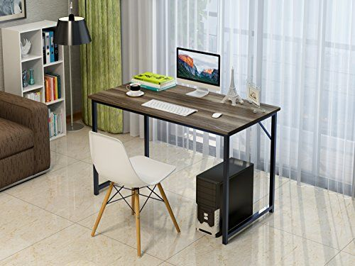 Soges Computer Desk 47 Sturdy Office Meeting/Training Desk Writing Desk  Workstation Computer Table Teak